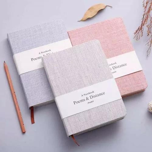 棉麻布封笔记本